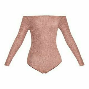 Carissa Rose Gold Bodysuit - PrettyLittleThing